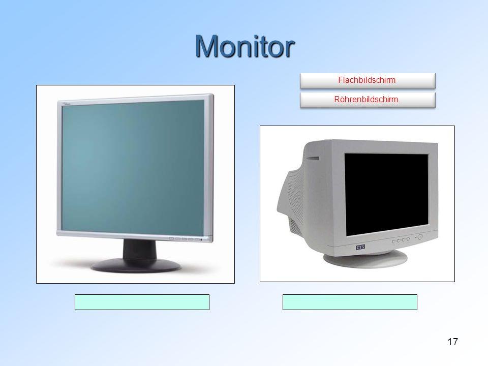 Monitor Flachbildschirm Röhrenbildschirm.