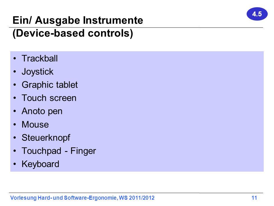 Ein/ Ausgabe Instrumente (Device-based controls)