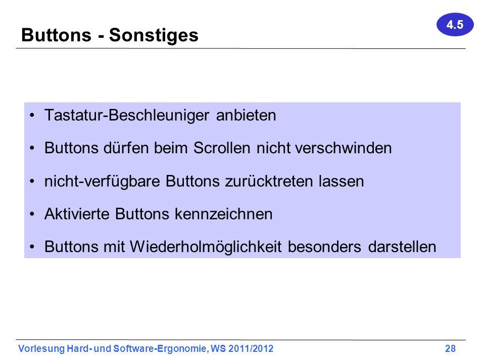 Buttons - Sonstiges Tastatur-Beschleuniger anbieten