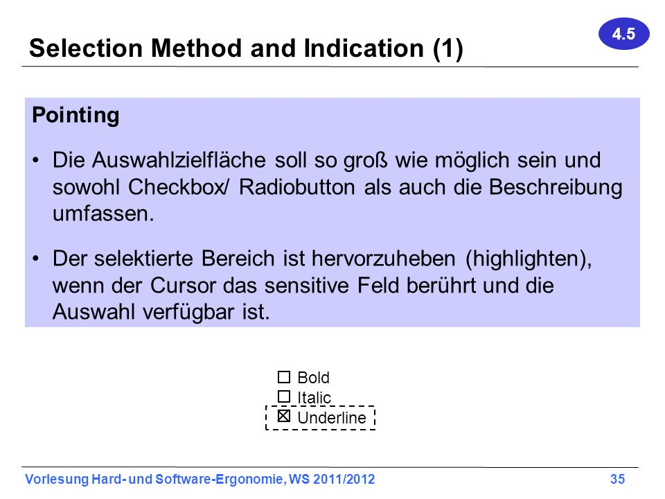 Selection Method and Indication (1)