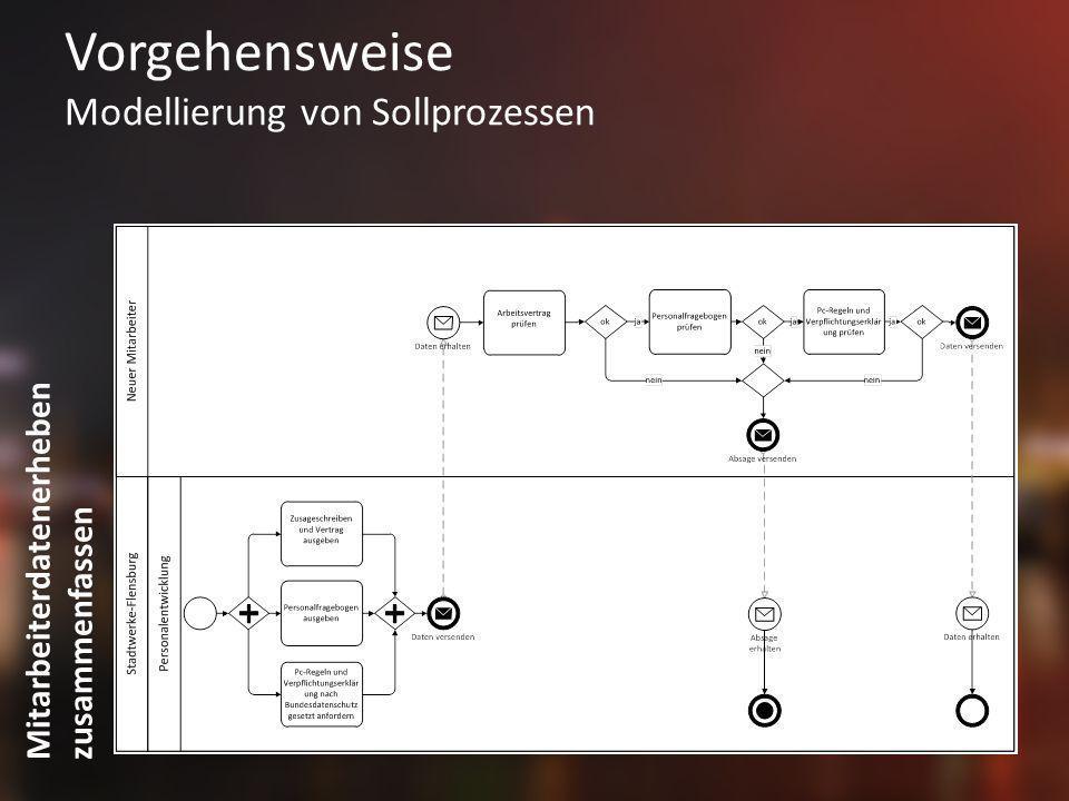 Vorgehensweise Modellierung von Sollprozessen