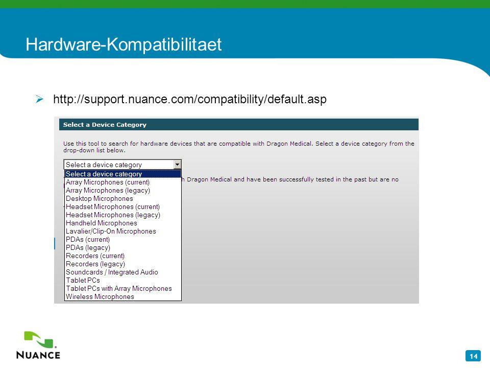 Hardware-Kompatibilitaet