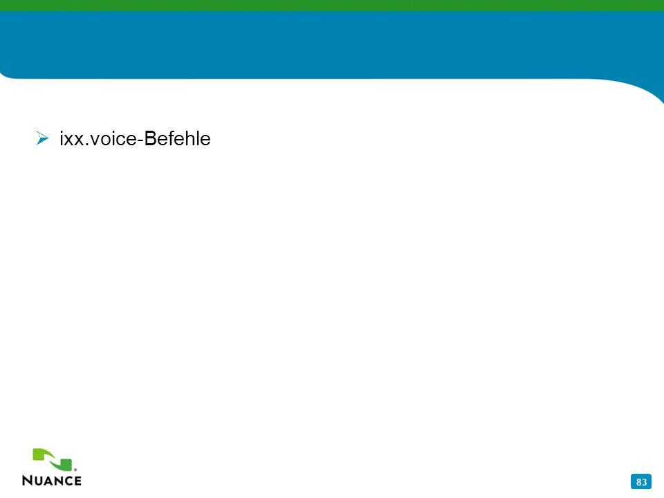 ixx.voice-Befehle