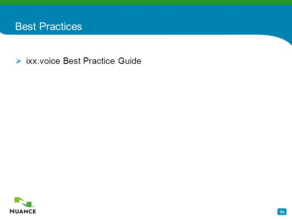 Best Practices ixx.voice Best Practice Guide