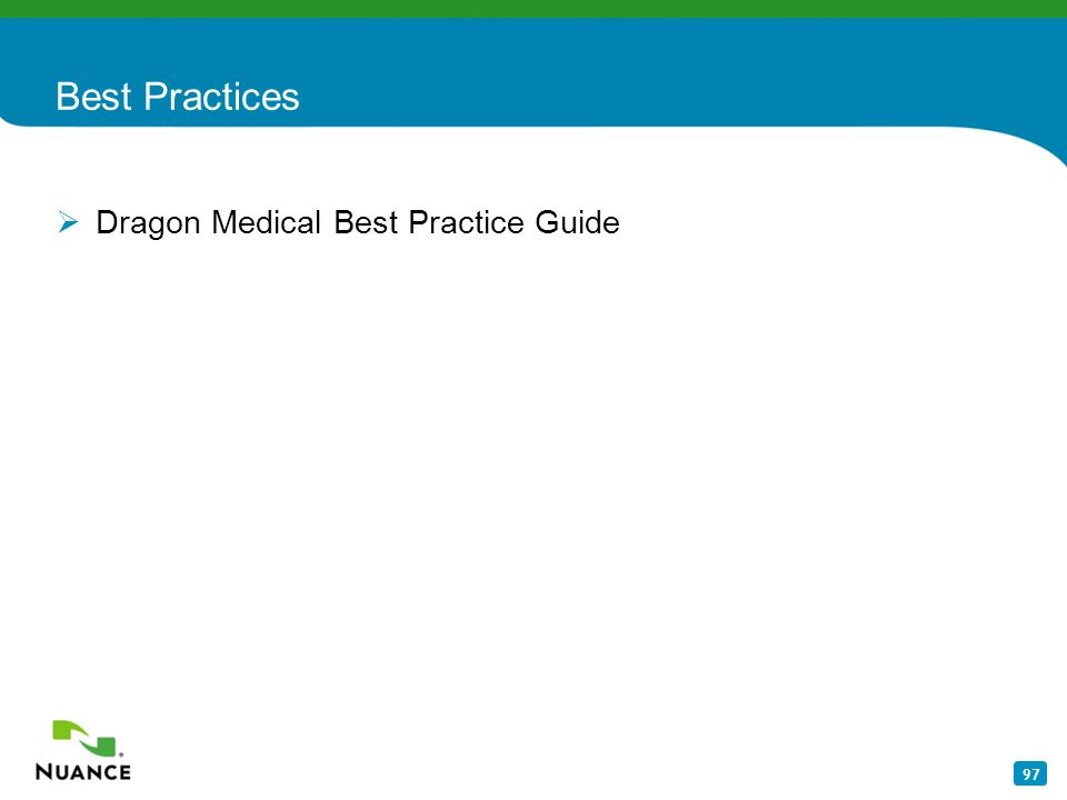 Best Practices Dragon Medical Best Practice Guide