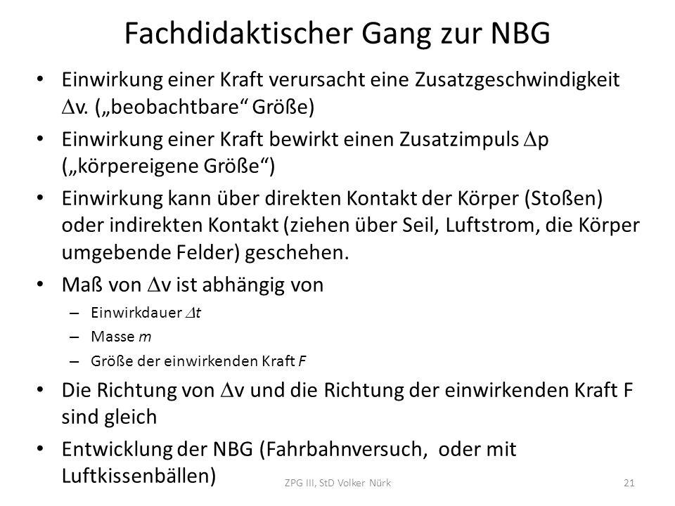 Fachdidaktischer Gang zur NBG