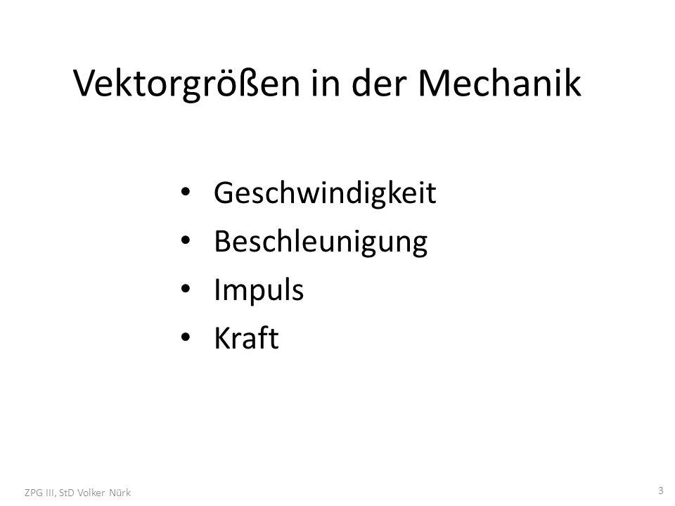 Vektorgrößen in der Mechanik