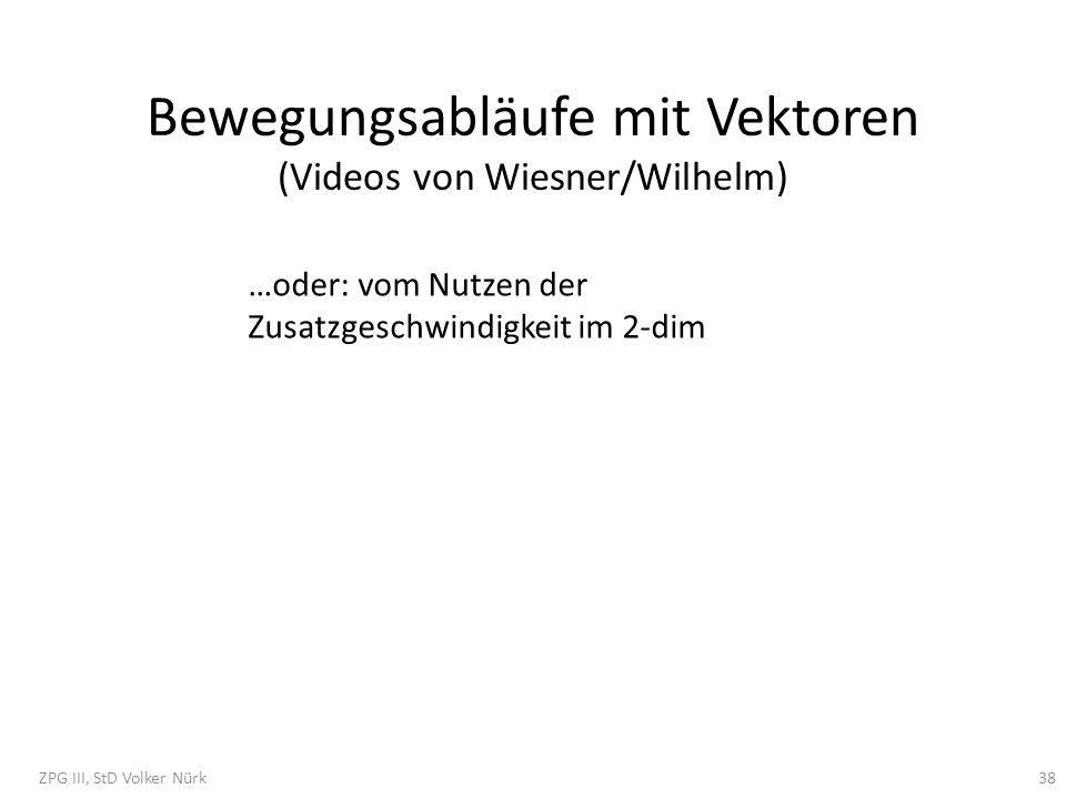 Bewegungsabläufe mit Vektoren (Videos von Wiesner/Wilhelm)