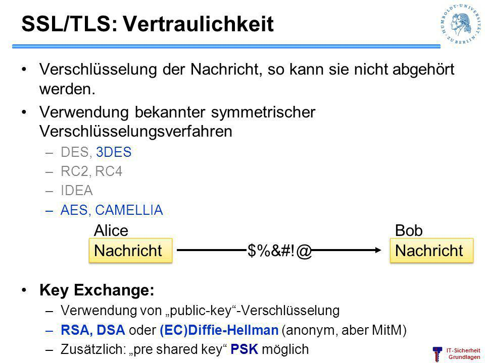 SSL/TLS: Vertraulichkeit