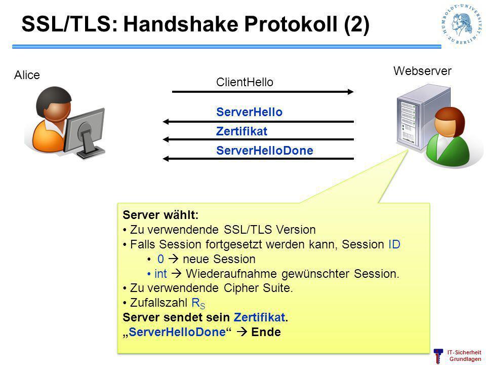 SSL/TLS: Handshake Protokoll (2)
