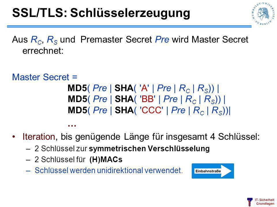 SSL/TLS: Schlüsselerzeugung