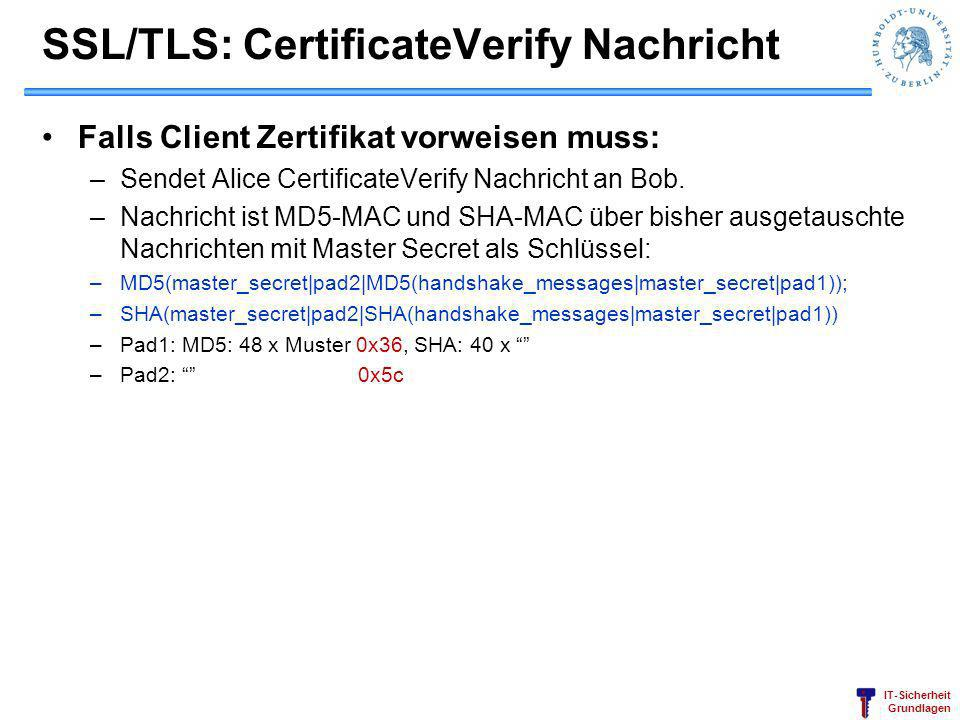 SSL/TLS: CertificateVerify Nachricht