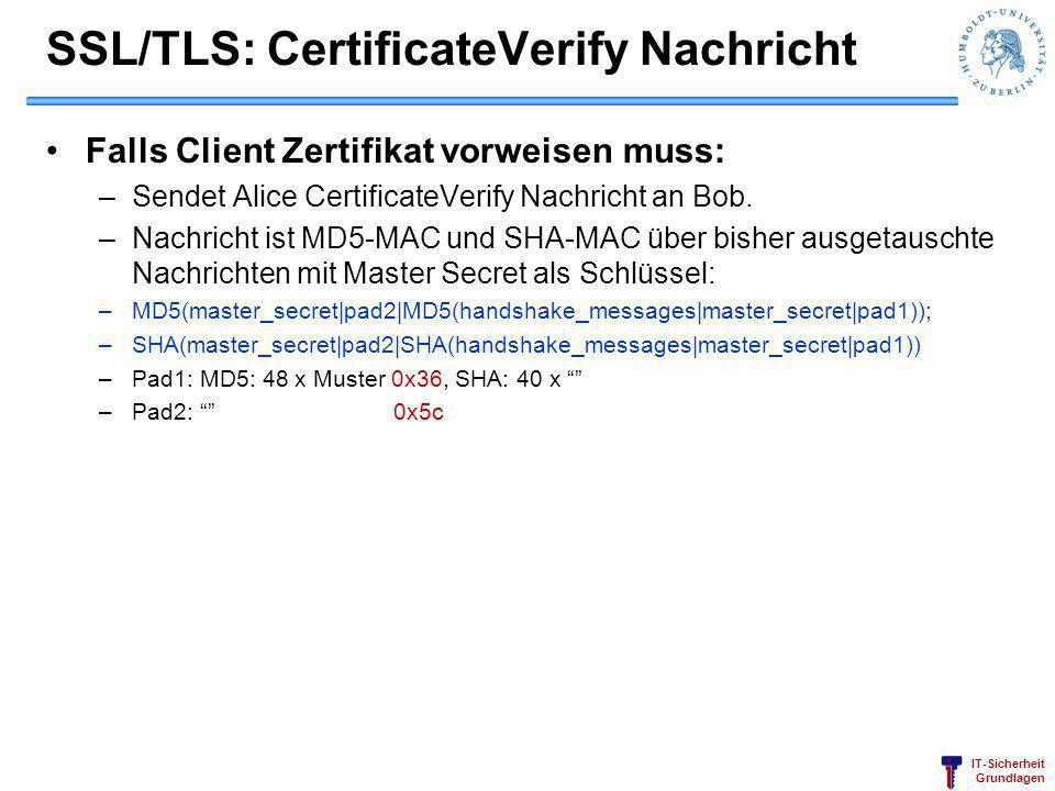 SSL/TLS: CertificateVerify Nachricht