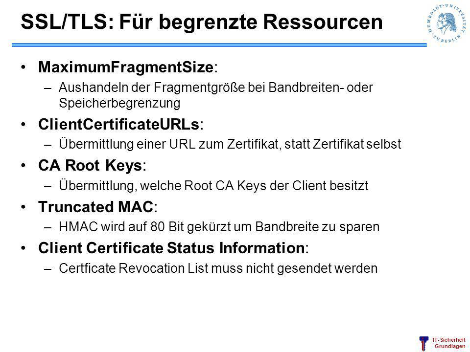 SSL/TLS: Für begrenzte Ressourcen