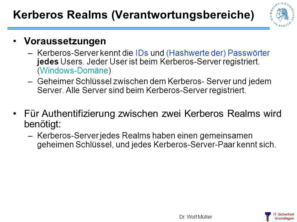 Kerberos Realms (Verantwortungsbereiche)