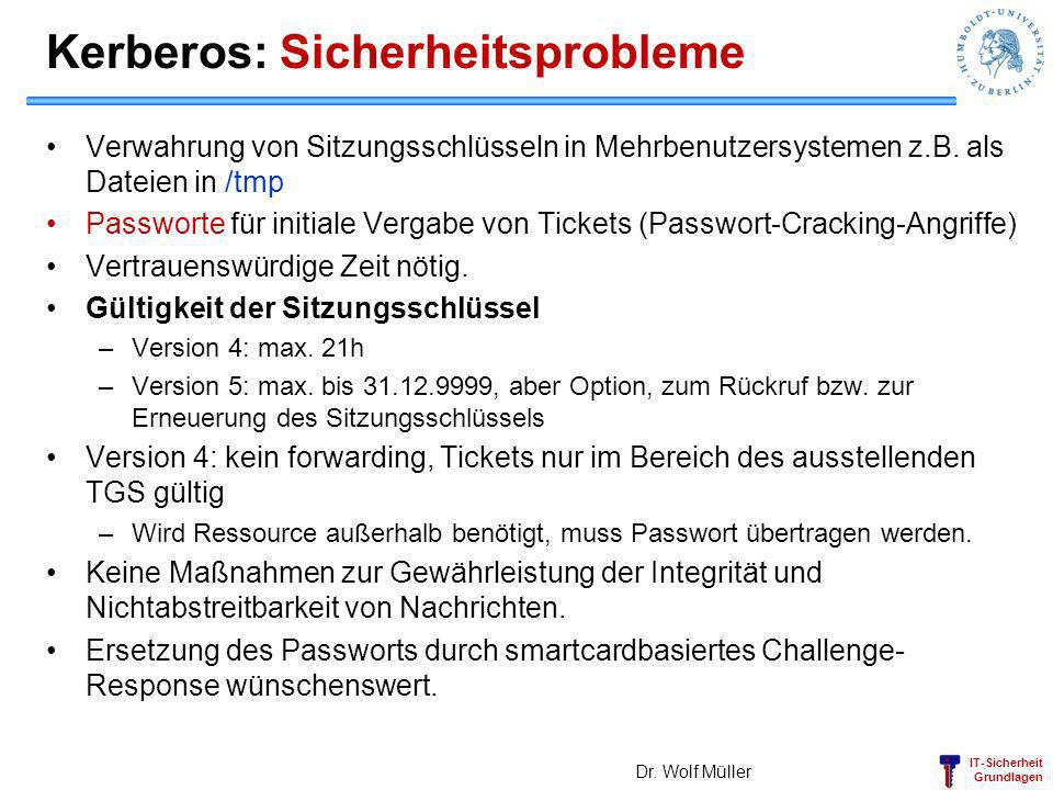 Kerberos: Sicherheitsprobleme