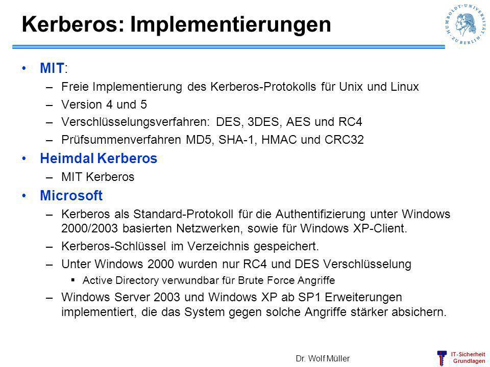 Kerberos: Implementierungen
