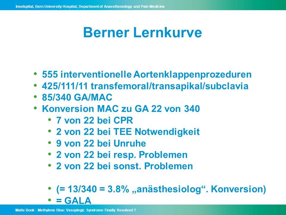 Berner Lernkurve 555 interventionelle Aortenklappenprozeduren