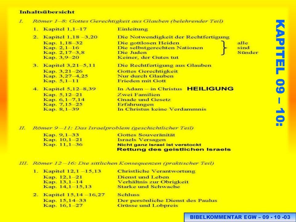 BIBELKOMMENTAR EGW – 09 - 10 -03