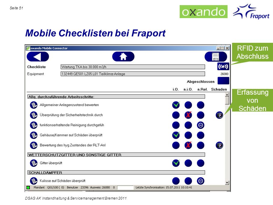 Mobile Checklisten bei Fraport