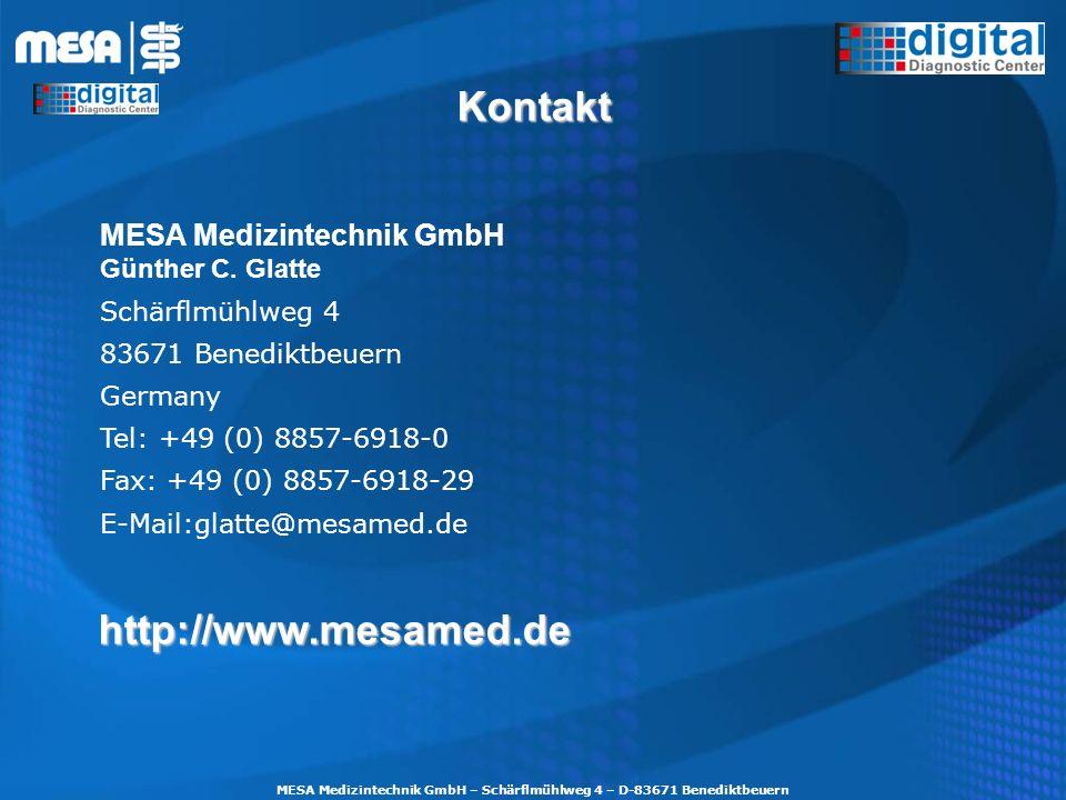 MESA Medizintechnik GmbH – Schärflmühlweg 4 – D-83671 Benediktbeuern