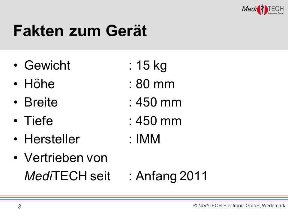 Fakten zum Gerät Gewicht : 15 kg Höhe : 80 mm Breite : 450 mm