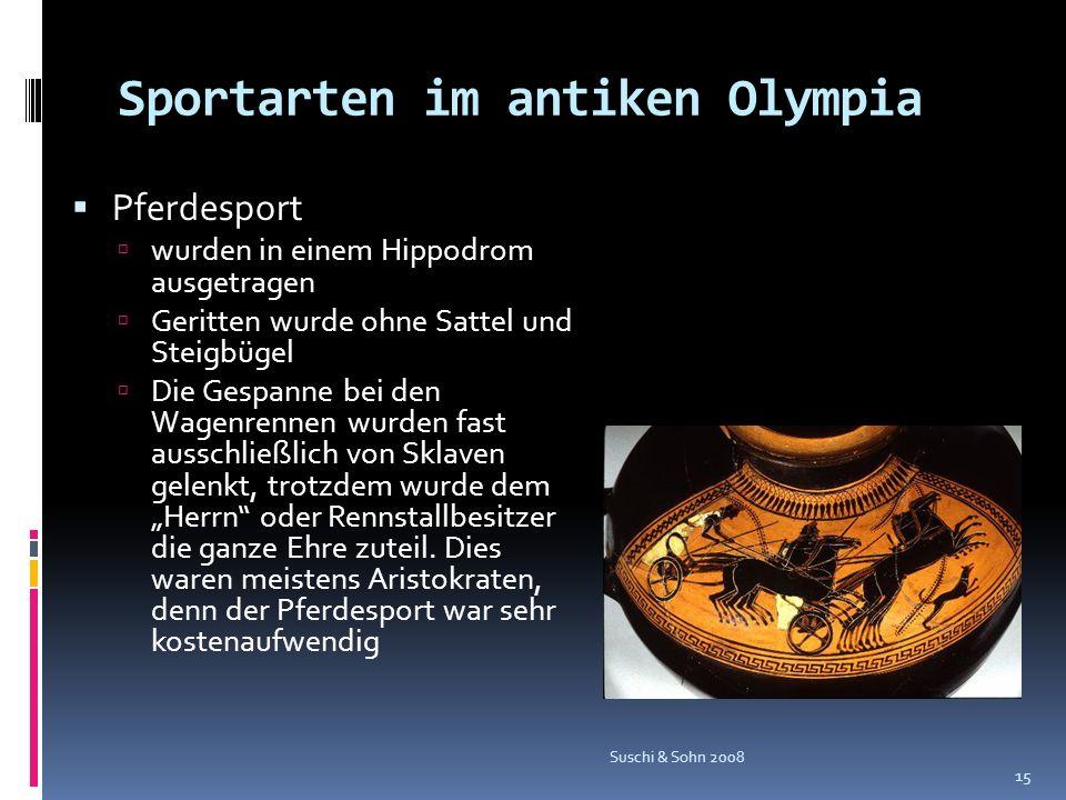Sportarten im antiken Olympia