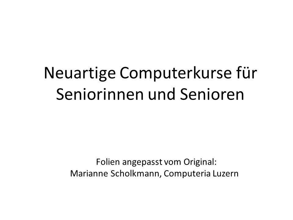 Neuartige Computerkurse für Seniorinnen und Senioren