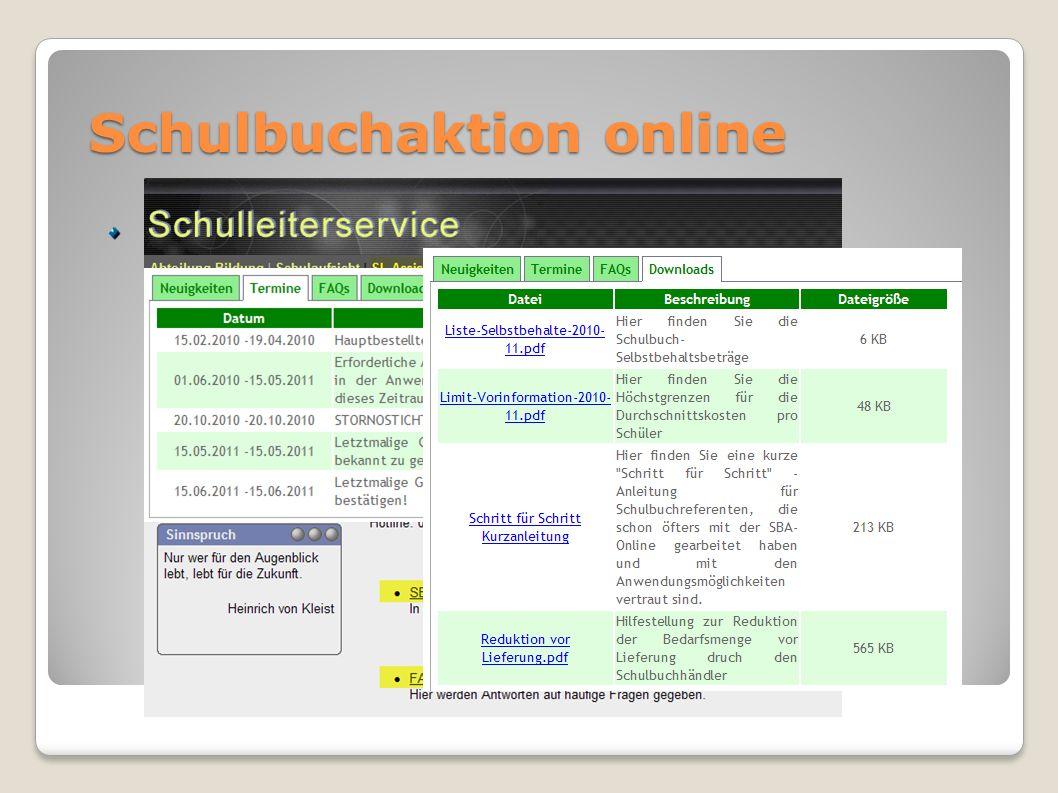 Schulbuchaktion online
