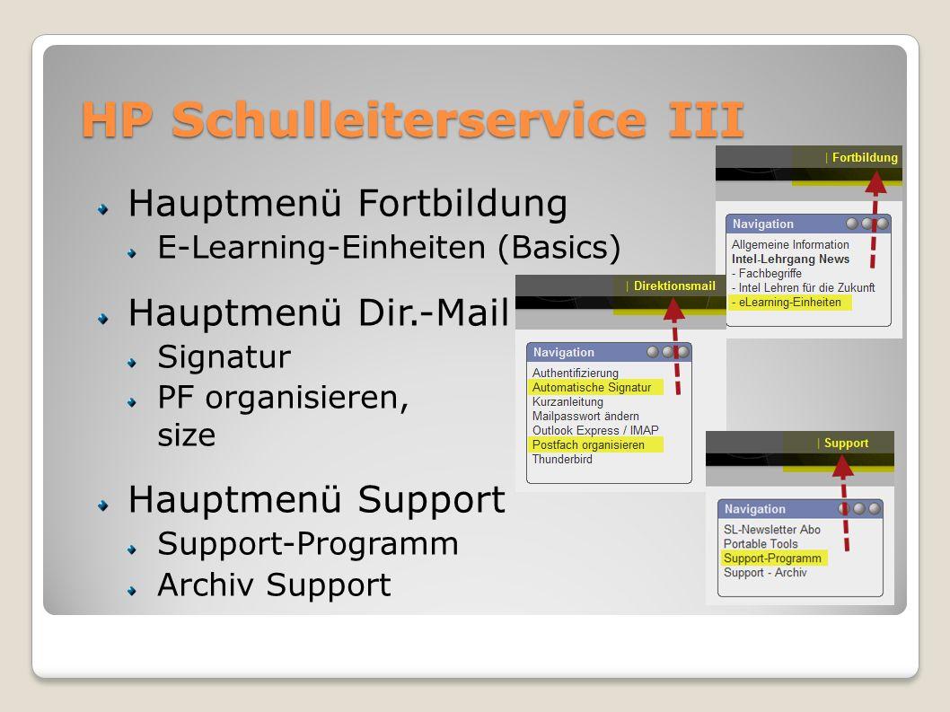 HP Schulleiterservice III
