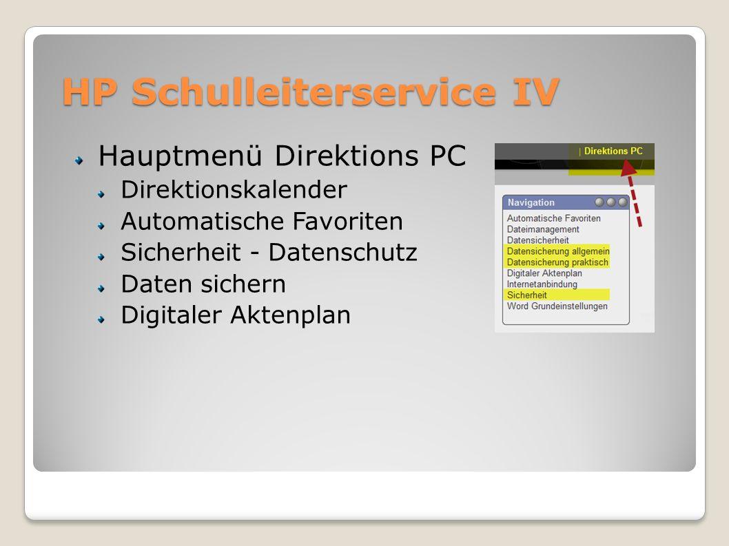 HP Schulleiterservice IV