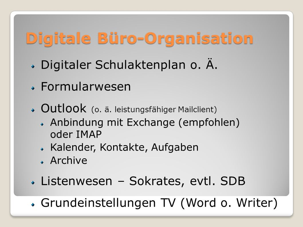 Digitale Büro-Organisation