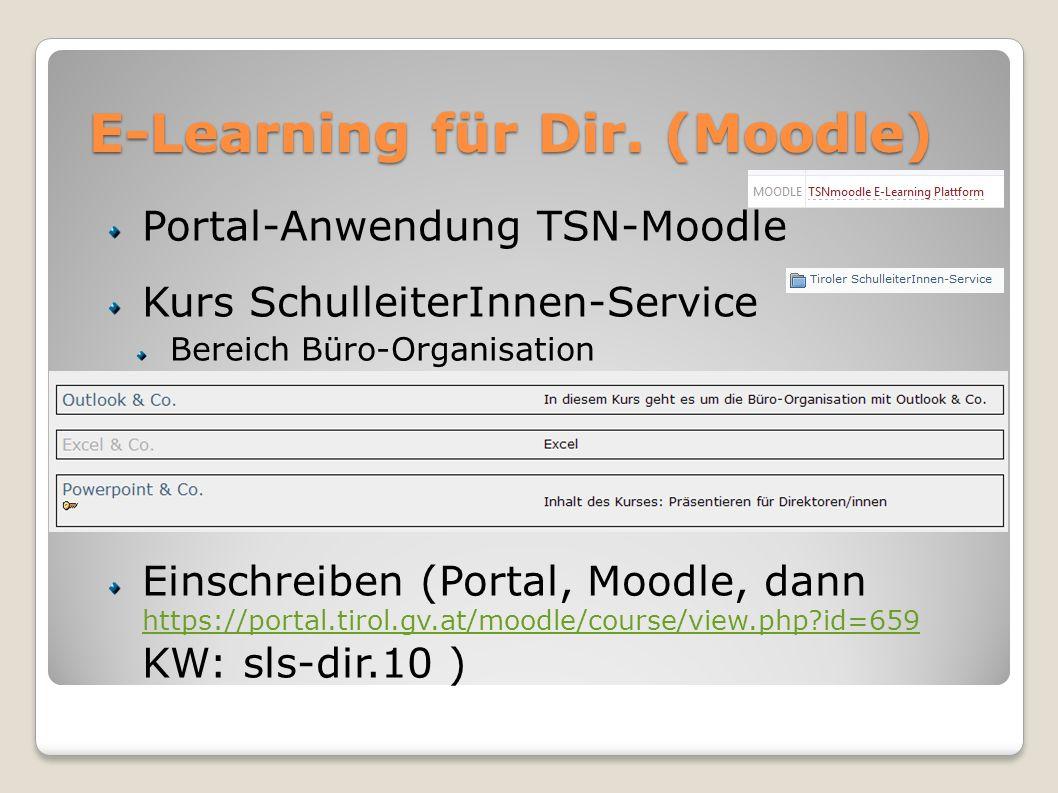 E-Learning für Dir. (Moodle)