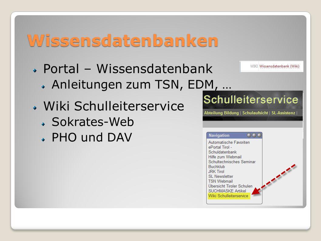 Wissensdatenbanken Portal – Wissensdatenbank Wiki Schulleiterservice
