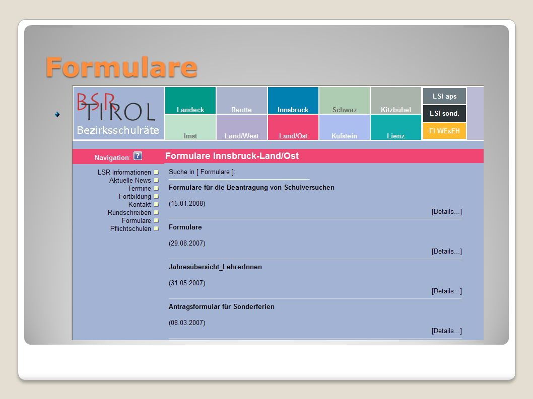 Formulare Mustervorlagen von HP BSR
