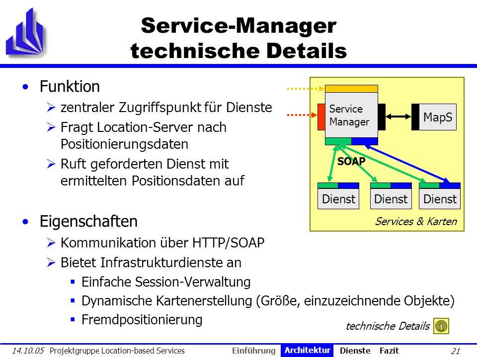 Service-Manager technische Details