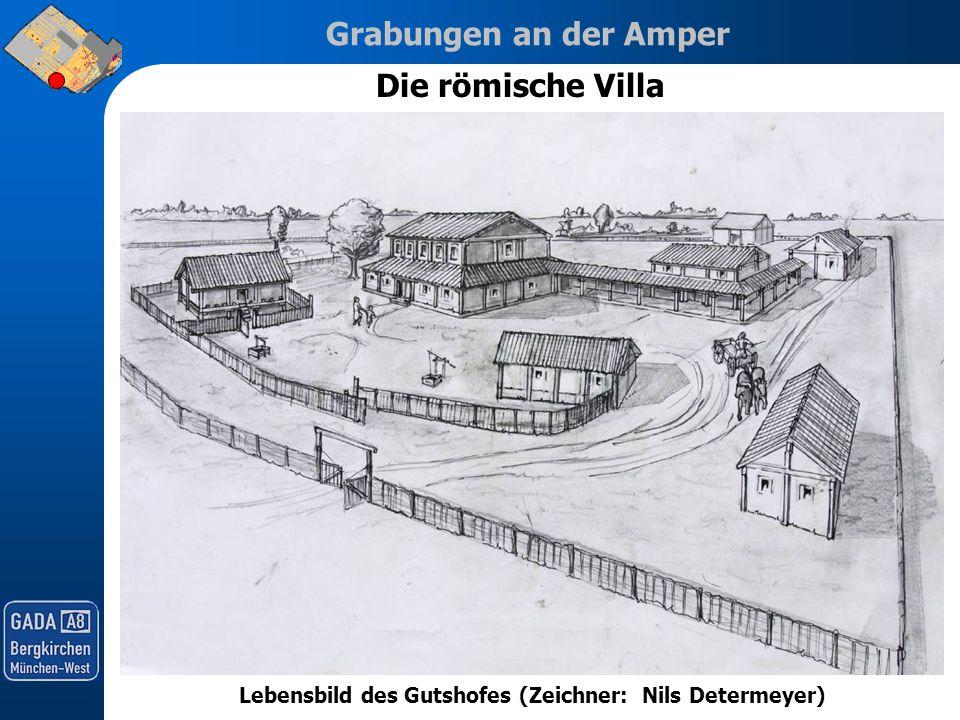 Lebensbild des Gutshofes (Zeichner: Nils Determeyer)