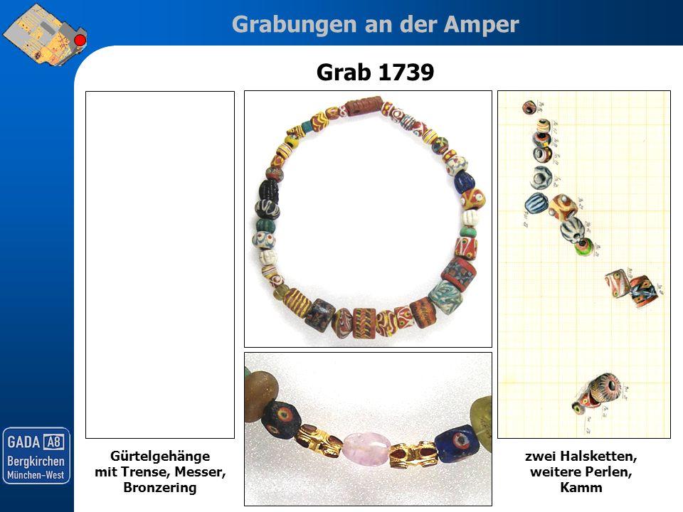 Grab 1739 Gürtelgehänge mit Trense, Messer, Bronzering
