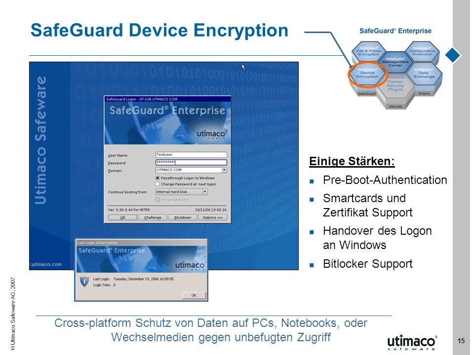 SafeGuard Device Encryption