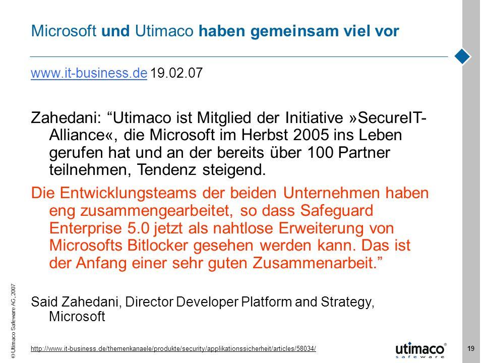 Microsoft und Utimaco haben gemeinsam viel vor