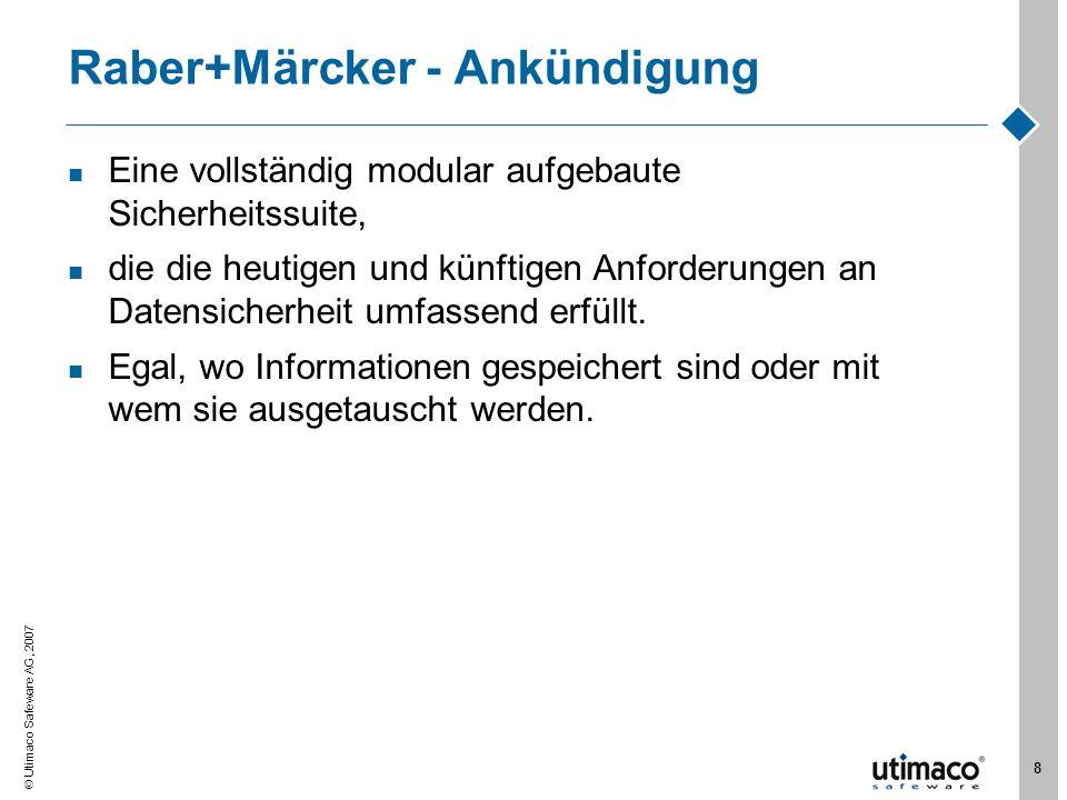 Raber+Märcker - Ankündigung