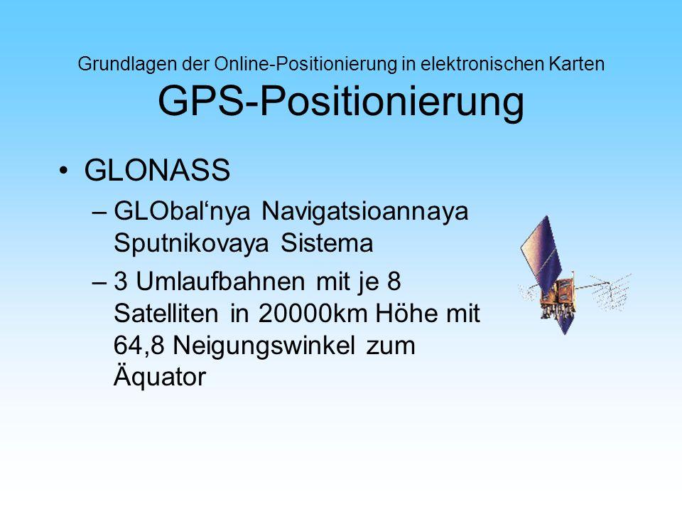 GLONASS GLObal'nya Navigatsioannaya Sputnikovaya Sistema