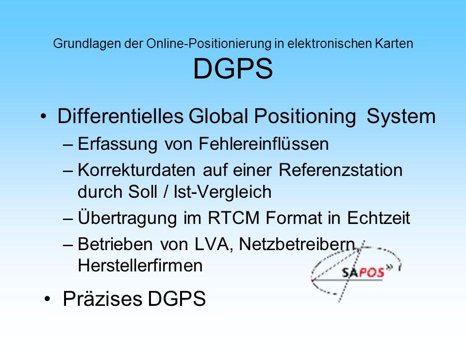 Grundlagen der Online-Positionierung in elektronischen Karten DGPS