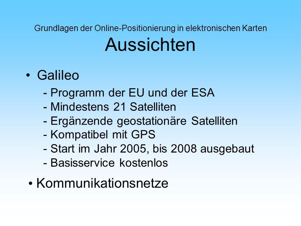 Galileo Kommunikationsnetze - Programm der EU und der ESA