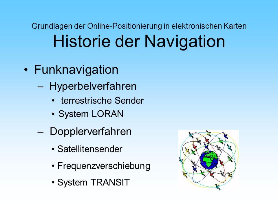 Funknavigation Hyperbelverfahren Dopplerverfahren terrestrische Sender