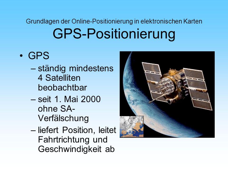 GPS ständig mindestens 4 Satelliten beobachtbar