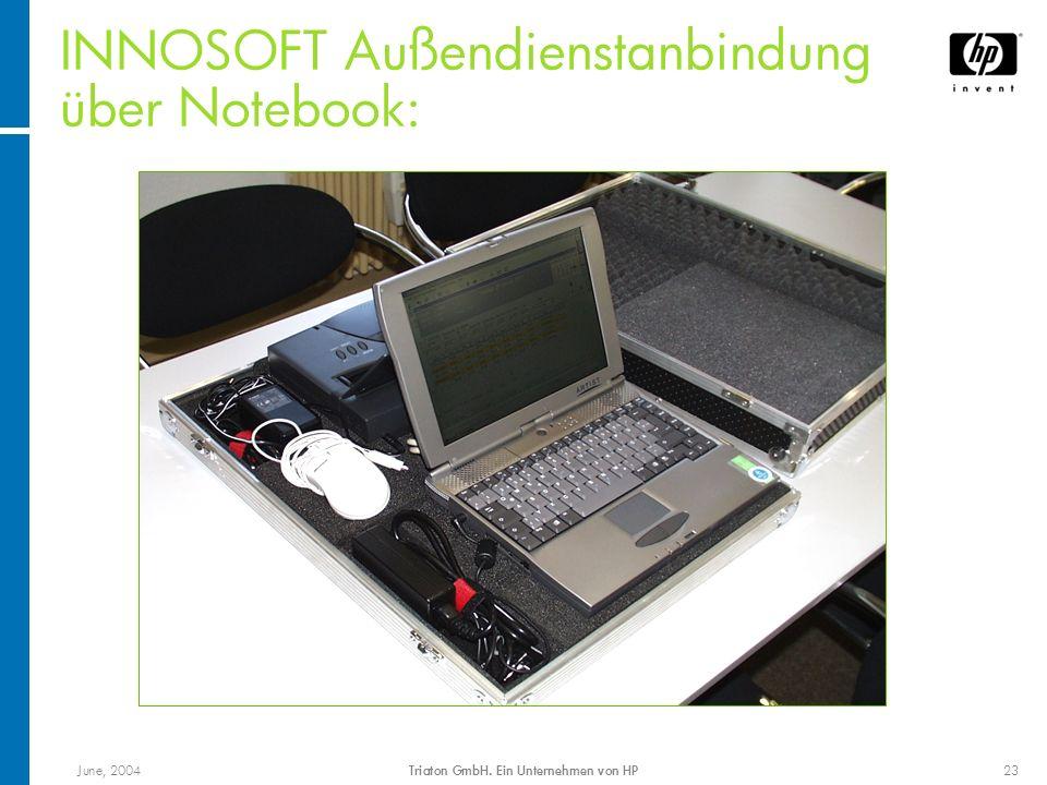 INNOSOFT Außendienstanbindung über Notebook: