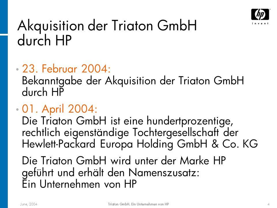 Akquisition der Triaton GmbH durch HP