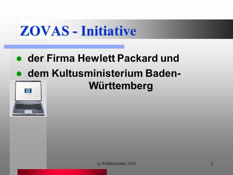 ZOVAS - Initiative der Firma Hewlett Packard und