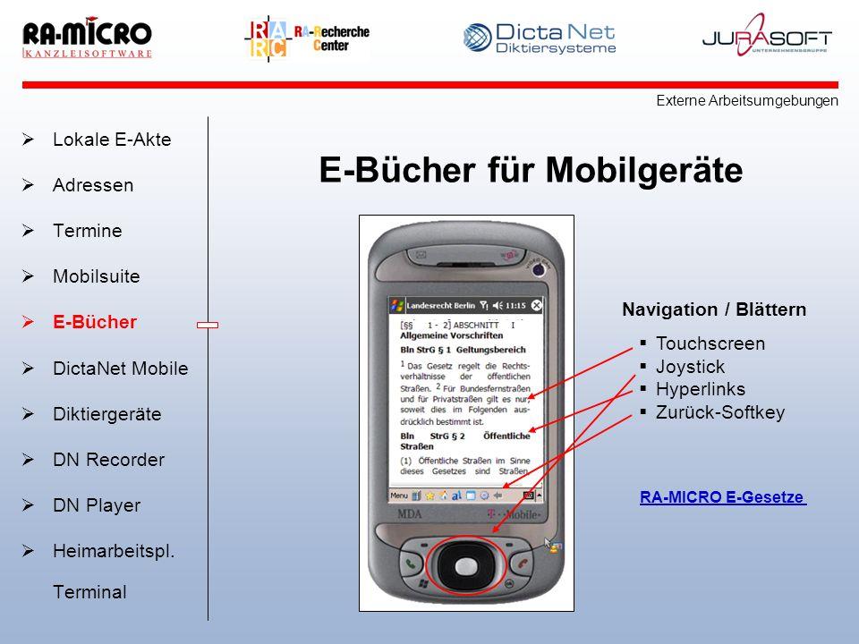 E-Bücher für Mobilgeräte